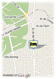 map-Hotel Hesperia Alicante Golf -Spa