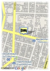 map-Nevsky Central Hotel
