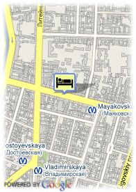 map-Hotel Nevsky Express