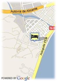 map-Hotel Express Holiday Inn Alicante