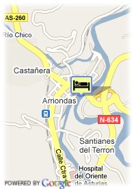 map-Hotel Casona Del Sella