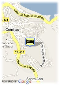 map-Hotel Golf Rovacias