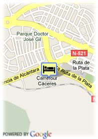 map-Hotel Caceres Golf