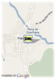 map-Hotel Restaurant Mas Salvi