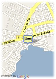 map-Hotel Central Playa
