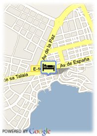 map-Hotel Hostal Roberto Playa