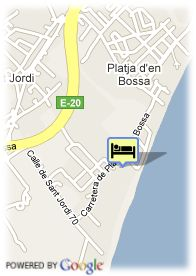 map-Fiesta Hotel Playa den Bossa
