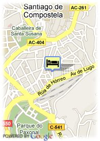 map-Hotel Compostela