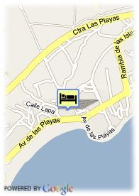 map-Hotel Hipotels La Geria