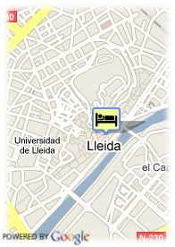 map-Hotel Real Lleida