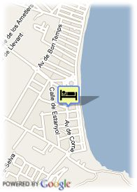 map-Hotel Hipotels Flamenco