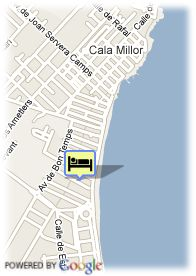 map-Hotel Hipotels Hipocampo