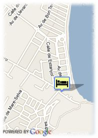 map-Hospital Hipotels Bahia Grande