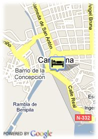 map-Hotel Husa Cartagonova