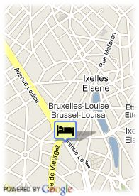 map-Brussels Hotel