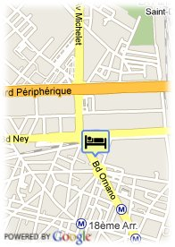 map-Hotel Ibis Ornano Montmartre Nord
