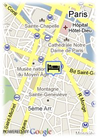 map-Hôtel Claude Bernard Saint Germain