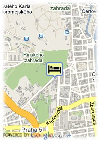 map-Red & Blue design hotel Prague