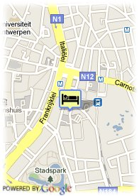 map-Antwerp City Center Hotel – Different Hotels