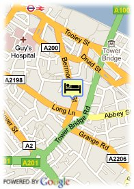 map-Hotel Think London Bridge