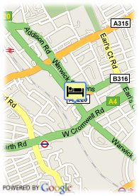 map-Think Earls Court Hotel