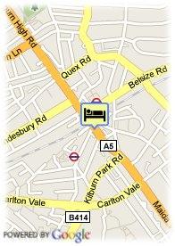 map-Quality Maitrise Hotel Maida Vale
