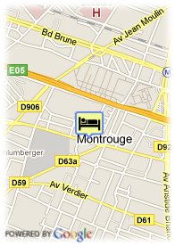 map-Adagio Montrouge Aparthotel