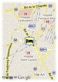 map-Hotel Parisiana