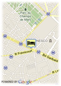 map-Hotel Paris Eiffel Cambronne