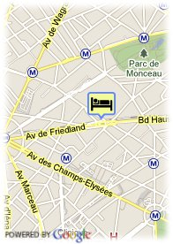 map-Hotel B.W. Champs Elysees Friedland