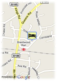 map-Brentwood Guest House