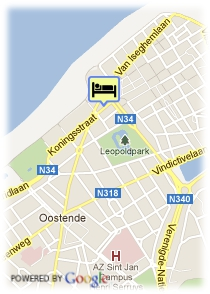 map-Mondo City Centre Oostende