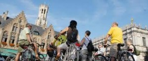 cycling in bruges